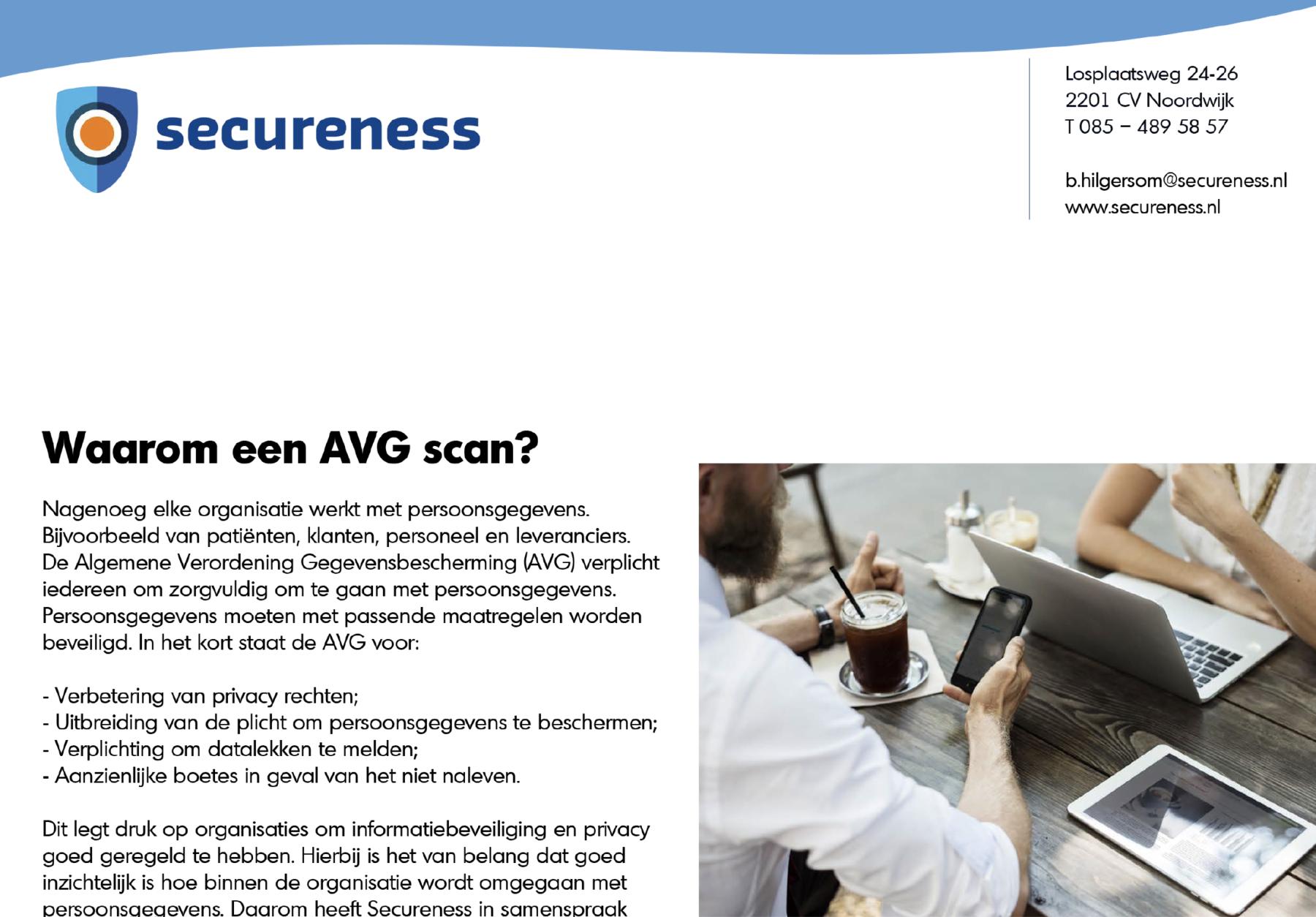 AVG scan folder voor Secureness